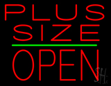 Plus Size Block Open Green Line LED Neon Sign