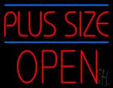 Plus Size Blue Lines Block Open LED Neon Sign