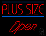 Red Plus Size Blue Lines Open LED Neon Sign