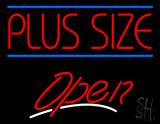 Plus Size Blue Lines Open LED Neon Sign