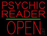 Psychic Reader Block Open Block Green Line LED Neon Sign