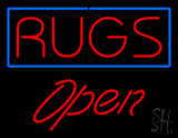 Rugs Script1 Open LED Neon Sign