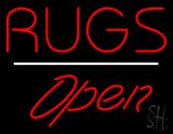 Rugs Script1 Open White Line LED Neon Sign