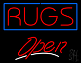 Rugs Script2 Open LED Neon Sign