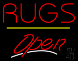 Rugs Script2 Open Yellow Line LED Neon Sign
