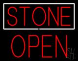 Stone Block Open LED Neon Sign