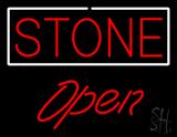 Stone Script1 Open LED Neon Sign