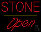 Stone Script1 Open Yellow Line LED Neon Sign
