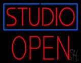 Studio Blue Border Open Block LED Neon Sign