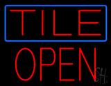 Tile Block Open LED Neon Sign