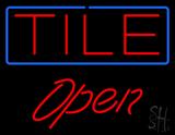 Tile Script1 Open LED Neon Sign