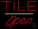 Tile Script1 Open White Line LED Neon Sign