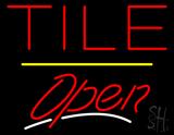 Tile Script2 Open Yellow Line LED Neon Sign