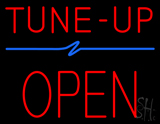 Red Tune-Up Open Block LED Neon Sign