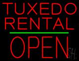 Tuxedo Rental Open Green Line LED Neon Sign