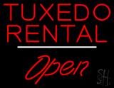 Tuxedo Rental Open White Line LED Neon Sign