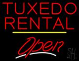 Tuxedo Rental Open Yellow Line LED Neon Sign