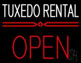 Tuxedo Rental Block Open LED Neon Sign