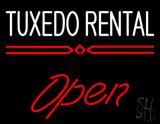 Tuxedo Rental Open LED Neon Sign