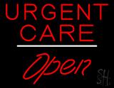 Urgent Care Open White Line LED Neon Sign