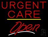 Urgent Care Open Yellow Line LED Neon Sign