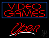 Red Video Games Open LED Neon Sign