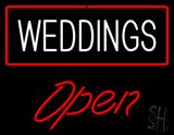 Weddings Open LED Neon Sign