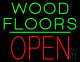 Wood Floors Block Open Green Line LED Neon Sign