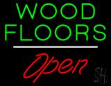 Wood Floors Script1 Open White Line LED Neon Sign