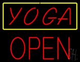 Red Yoga Yellow Border Block Open LED Neon Sign
