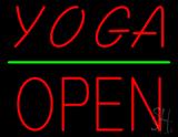 Yoga Block Open Green Line LED Neon Sign
