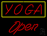 Red Yoga Yellow Border Open LED Neon Sign