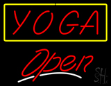 Red Yoga Yellow Border Open White Line LED Neon Sign