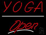 Yoga Open White Line LED Neon Sign