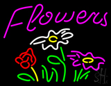 Pink Flowers Logo LED Neon Sign