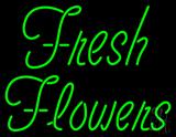 Green Fresh Flowers LED Neon Sign