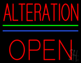 Red Alteration Block Open LED Neon Sign