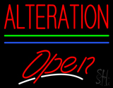 Red Alteration Open Blue Green Line LED Neon Sign
