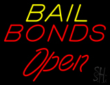 Yellow Bail Bonds Open LED Neon Sign