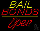 Nail Bonds Yellow Line Red Open LED Neon Sign