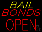 Bail Bonds Block Open LED Neon Sign