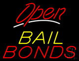Red Open Bail Bonds LED Neon Sign