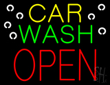 Car Wash Open Block LED Neon Sign