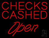 Red Checks Cashed LED Neon Sign