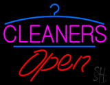 Pink Cleaners Logo Open LED Neon Sign