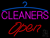 Pink Cleaners Red Open Logo LED Neon Sign