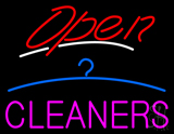 Red Open Cleaners Logo LED Neon Sign