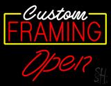Custom Framing Open LED Neon Sign