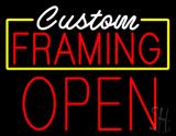 White Custom Red Framing Open LED Neon Sign