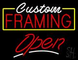 Custom Framing Yellow Border Open LED Neon Sign